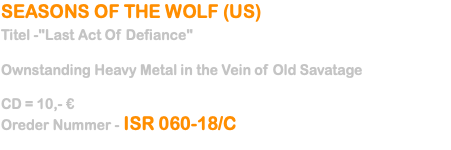 SEASONS OF THE WOLF (US) 